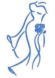 Bride Outline embroidery design