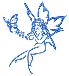 Fairy & Butterfly embroidery design