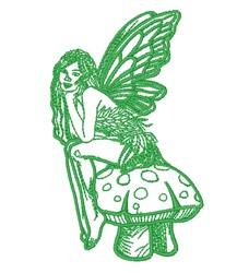 Toadstool Fairy embroidery design