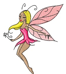 Pink Fairy embroidery design