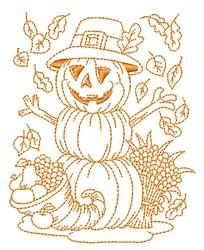 Jack-O-Lantern Outline embroidery design