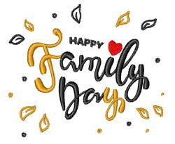 Family Day embroidery design