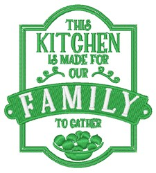 Kitchen For Family embroidery design