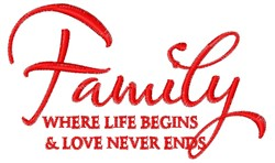 Love Never Ends embroidery design