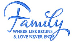 Where Life Begins embroidery design