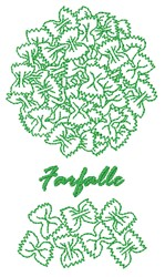 Farfalle embroidery design