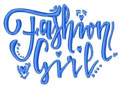 Fashion Girl embroidery design
