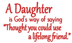 A Daughter embroidery design