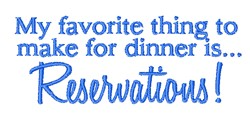 Reservations embroidery design