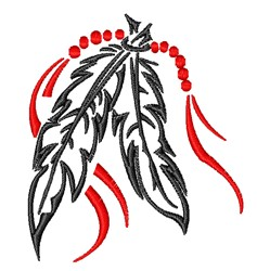 Tribal Feathers embroidery design