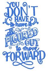 Move Forward embroidery design