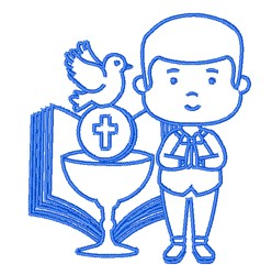 Holy Communion Outline embroidery design