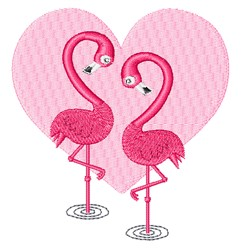 Flamingos In Love embroidery design