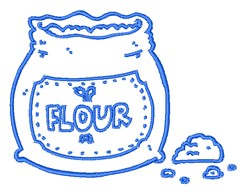 Flour Sack Outline embroidery design