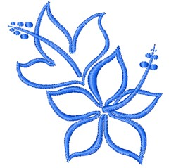 Hibiscus Outline embroidery design