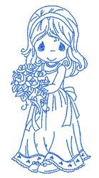 Precious Moments Bride embroidery design