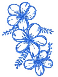 Floral Outline Border embroidery design