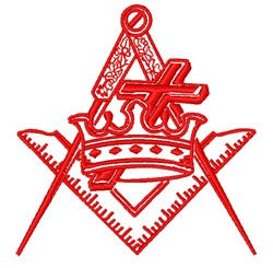 Masonic Logo Outline embroidery design