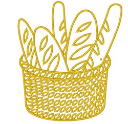 Basket Of Bread Outline embroidery design