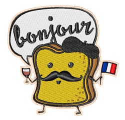 Bonjour French Toast embroidery design