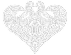 Pair Of Love Birds embroidery design