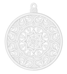 FSL Decorative Christmas Ornament embroidery design