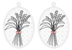 FSL Wheat Ornaments embroidery design