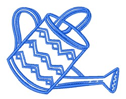 Watering Can Outline embroidery design