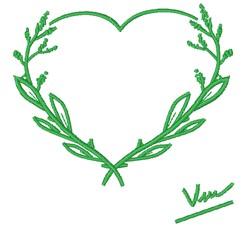 Gardening Heart embroidery design