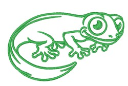 Kawaii Gecko Outline embroidery design
