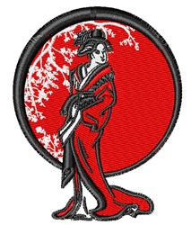 Geisha Scene embroidery design
