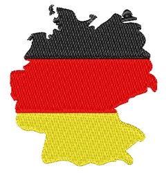 German Flag embroidery design