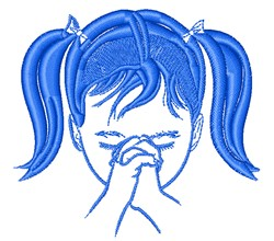 Praying Little Girl embroidery design