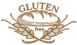 Gluten Free Bread embroidery design