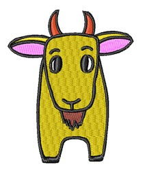 Cartoon Goat embroidery design