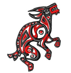 Tribal Goat embroidery design