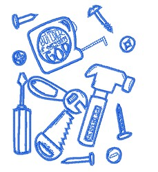 Carpenters Tools embroidery design