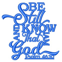 Know That I Am God embroidery design