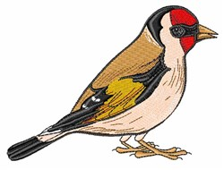Realistic Goldfinch embroidery design