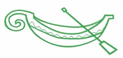 Gondola Outline embroidery design