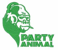 Gorilla Party Animal embroidery design