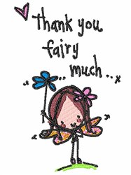 Thank You Fairy Much embroidery design