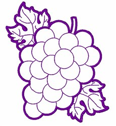 Bunch Of Grapes Outline embroidery design