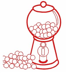 Gumball Machine Outline embroidery design