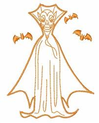 Halloween Dracula Outline embroidery design
