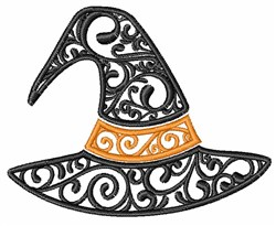 Swirly Witches Hat embroidery design