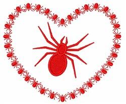 Halloween Spider Heart embroidery design