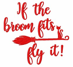 Fly That Broom! embroidery design