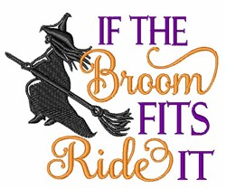 Ride That Broom! embroidery design