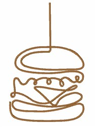 Abstract Hamburger embroidery design